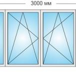 Лоджии Пластиковые Трехстворчатые профиль алюмин 70мм стеклопакет 32мм, Сочи