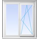 Окна пластиковые двустворчатые профиль алюмин 58мм стеклопакет 32мм, Сочи