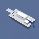 Катамаран грузопассажирский, катамаран для работ на воде, водная вахта, Сочи