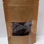 Пакет бумажный крафт дойпак с замком зип лок с прозрачным окном, Сочи