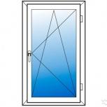 Окна пластиковые одностворчатые профиль алюмин 70мм стеклопакет 32мм, Сочи
