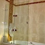 Стеклянные складные шторки для ванной, Сочи